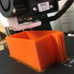 Printing a toothbush holder on the Anet A8